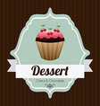 cupcake design vector image vector image