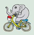 Cuta elephant cartoon vector image vector image