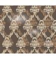 Damask ornament pattern beige color vector image vector image