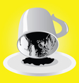 Divination from a cup of coffee vector image