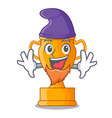 elf character gold trophy award for competition vector image