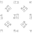 enter home room pattern seamless vector image vector image