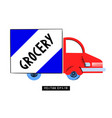 food shop delivery logo template pandemic vector image