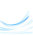 Futuristic blue swoosh lines background vector image vector image