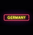 germany neon sign bright light signboard banner vector image vector image