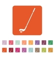 Golf icon Game symbol Flat vector image vector image