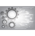 gray technology gear abstract background vector image vector image