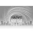 grayscale happy new year background vector image vector image