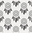 grunge seamless pattern with dream catchers vector image