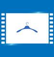hanger flat icon vector image vector image