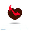 heart black icon love symbol the red vector image
