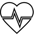 heartbeat line icon vector image
