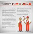 industrial workers background vector image vector image
