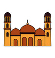 islamic temple religious vector image