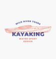 kayaking water sports abstract sign symbol vector image vector image