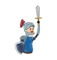 knight cartoon icon vector image