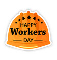 labor day poster international workers day or may vector image vector image