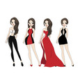 lady dress vector image