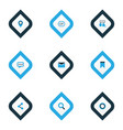 media icons colored set with gif sticker pennant vector image vector image