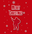 merry christmas santa claus riding a christmas vector image vector image