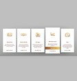 money savings banking linear onboarding vector image vector image