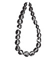 necklace of beads vintage engraving