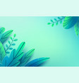 paper spring leaves background cut vector image vector image