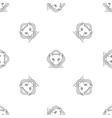 polar bear head pattern seamless vector image vector image