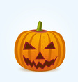 Pumpkin for Halloween isoleted on white vector image
