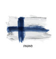 realistic watercolor painting flag of finland vector image vector image