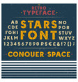retro font letters numbers and symbols vector image vector image