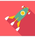 Rocket launch icon flat style vector image vector image