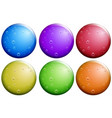 round bubbles in six colors vector image