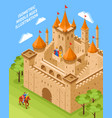 royal castle composition vector image vector image