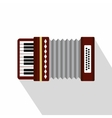 Russian folk accordion icon flat style vector image vector image