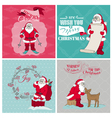 Santa Claus Christmas Cards vector image