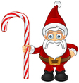 Santa Claus Holding Candy Cane vector image vector image