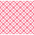 seamless geometric pattern with hearts in vector image