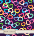 seamless rainbow hearts vector image vector image
