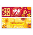 season sale concept chinese new year sale banners vector image