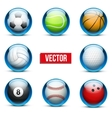 set glass icons sports themes for website or vector image vector image