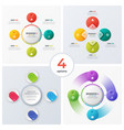 set of modern circle charts infographic designs vector image vector image