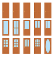 Set of the doors vector image