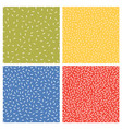 set seamless abstract texture patterns vector image vector image