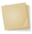 Sheets of paper for notes vector image vector image