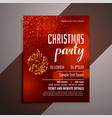 shiny red christmas party invitation flyer design vector image vector image