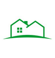 simple outline house land vector image