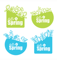 spring stickers vector image vector image