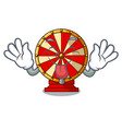 tongue out spinning wheel attached the cartoon vector image vector image