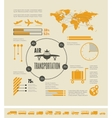 Travel Infographic Template vector image